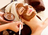 stock photo of female mask  - Chocolate Luxury Spa - JPG