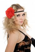 image of bolero  - Lovely girl dances classical spanish dance - JPG