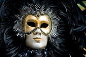 foto of venice carnival  - Carnival in venice with model dressed in various costumes and masks  - JPG