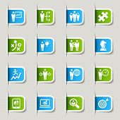 Label - Business strategy and management icons