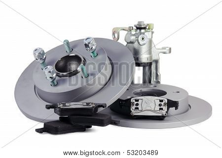 Spare Parts For Car. Brake Mechanism