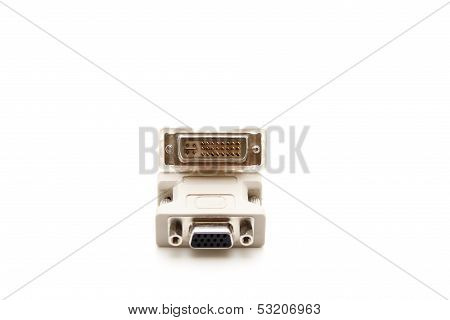 VGA Adapter for Monitor on white background