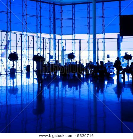 Blue Airport Hall