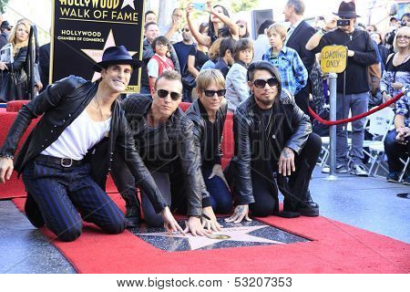 LOS ANGELES - OCT 30: Perry Farrell, Stephen Perkins, Chris Chaney, Dave Navarro at a ceremony where 'Jane's Addiction' star on Hollywood Walk of Fame on October 30, 2013 in Los Angeles, California