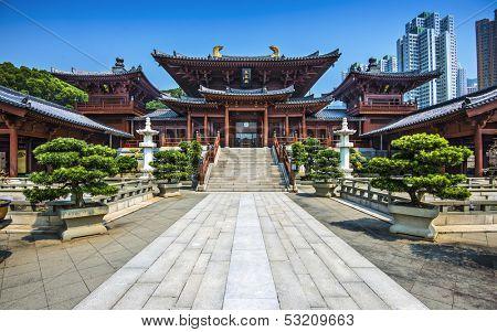 Chi Lin Buddhist Nunnery in Hong Kong, China.