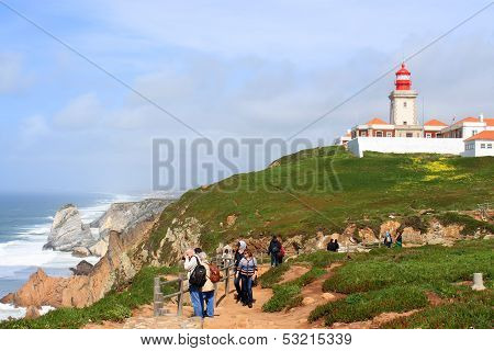Cabo Da Roca, And Lighhouse Portugal