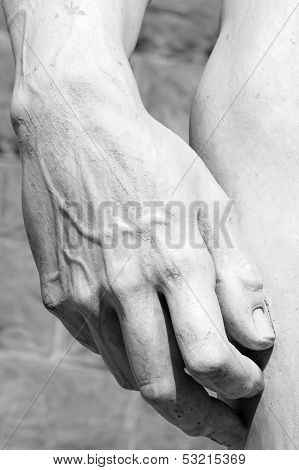 Hand Of Famous David  Carved By Michelangelo , Florence, Tuscany, Italy, Europe