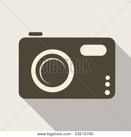 Photo camera web icon