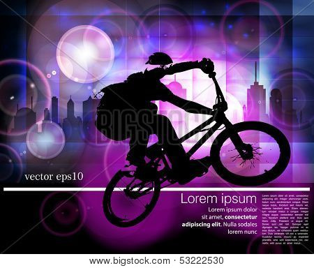 Extreme rider. Vector