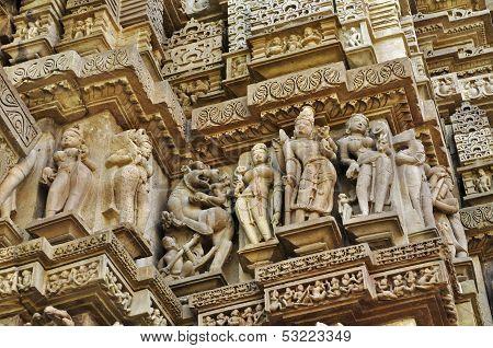 Sculptor Of Hindu Deities,Vishvanatha Temple, Khajuraho,India-UNESCO world heritage site