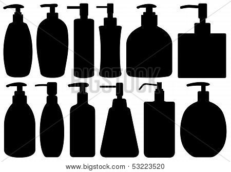 Set of different liquid soaps