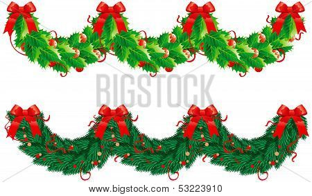christmas  garlands (semicircle)