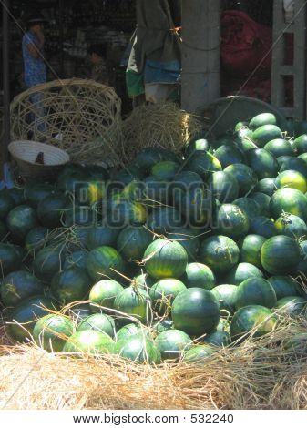 Melons In Market