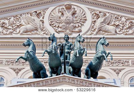 Bronze quadriga of the Bolshoi Theater