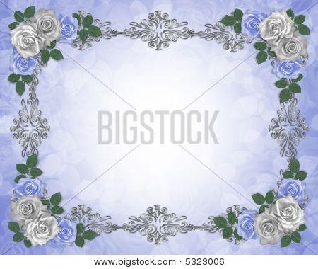 Blue Roses Wedding Border