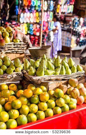 Asian Farmer's Market Selling Fresh Fruits