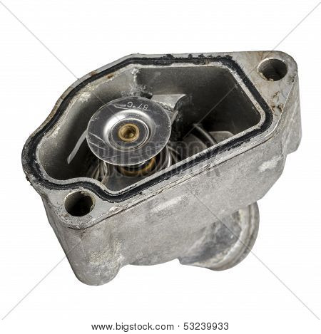 Worn Thermostat Mounted In The Housing