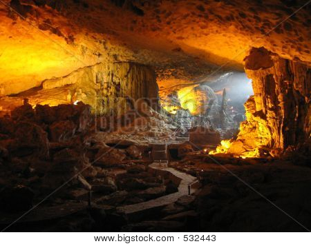Inside A Cave