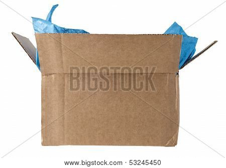 Open Box With Tissue Isolated