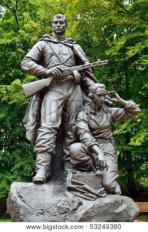 Memorial To Warrior - Scout In Victory Park, Kaliningrad, Russia