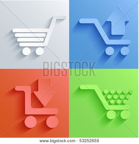 Vector Shooping Icon Set Backgrounds. Eps10