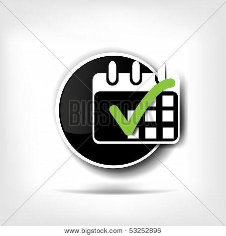 Calendar organizer web icon