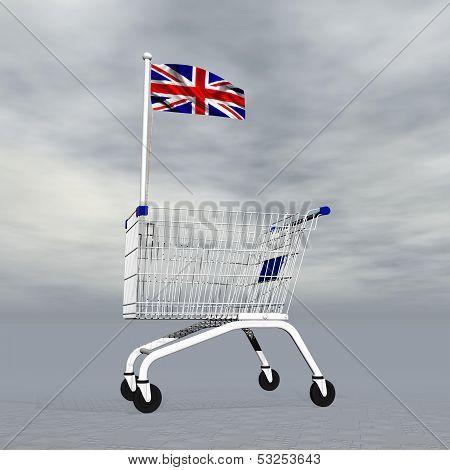 English shopping - 3D render