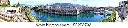 Rhone river, Geneva, Switzerland