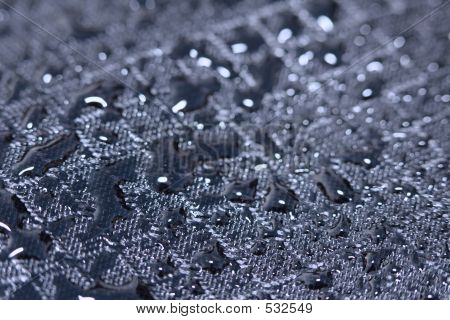 Water Drops On Fabric