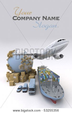 International Cargo transportation image . Elements of this image furnished by NASA, in the title