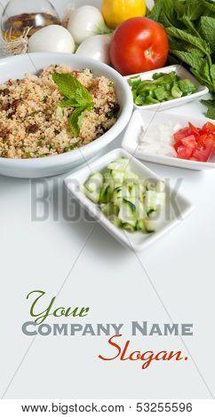 Refreshing tabouleh salad