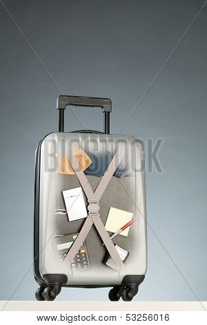 Business Trip - Suitcase With Supplies