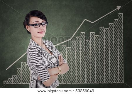 Young Businesswoman With Arms Crossed