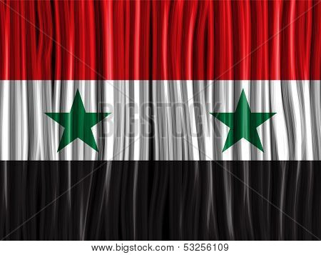 Syria Flag Wave Fabric Texture Background