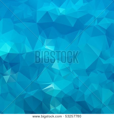 Abstract blue background polygon.