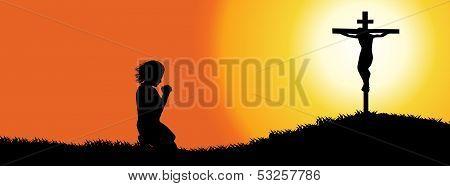 Prayer Silhouette-Timeline cover