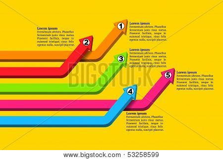 Intersecting colorful graph arrows
