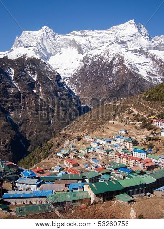 The Himalayan Settlement of Namche Bazaar, Nepal