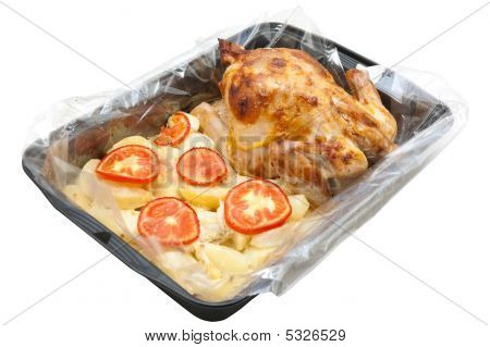 Hen Baked With A Potato