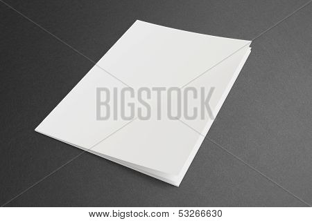 Blank Magazine On Dark Background