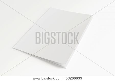 Blank Magazine Isolated On White