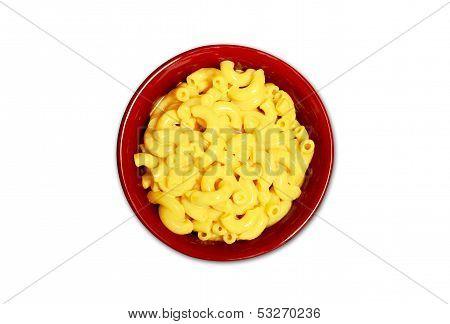 Isolated Macaroni And Cheese