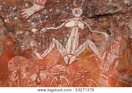 Aboriginal rock art (Namondjok) at Nourlangie, Kakadu National Park, Northern Territory, Australia