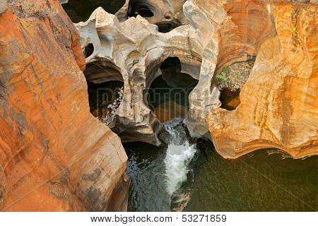Bourkes' Luck potholes in the Blyde river named after gold digger, Tom Burke, Mpumalanga, South Africa