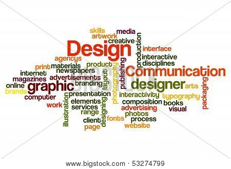 Graphic Design Concept Background