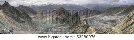 Zugspitze Alpspitze Jubilaumsgrat panorama