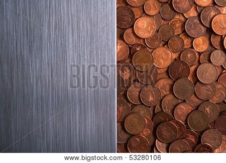 Brushed metal currency background