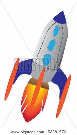 Retro Rocket Ship
