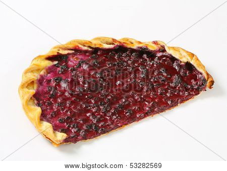 half of blueberry flan