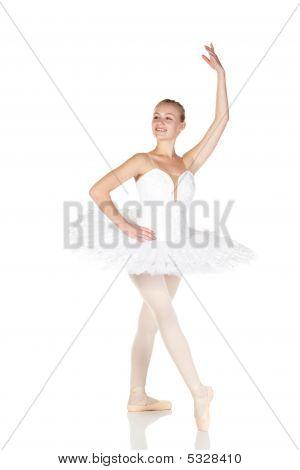 Junge caucasian ballerina